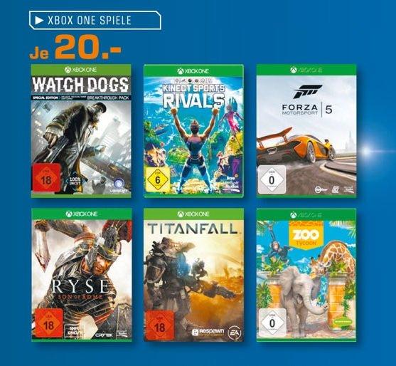 [Lokal Osnabrück Saturn] Xbox One Games 20€ (Watch Dogs, Ryse, Forza 5 usw.)