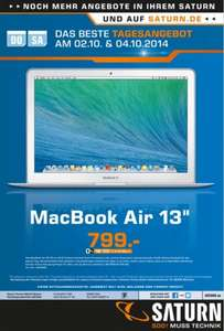 "[Lokal] Apple MacBook Air 13"" (MD760D/B) /Nur am 02.10 und 04.10@Saturn in Köln"