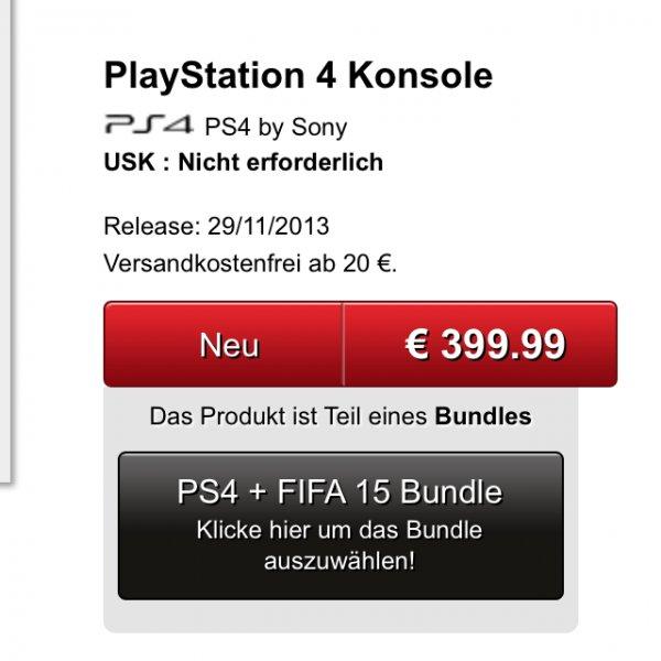 Playstation 4+Fifa15