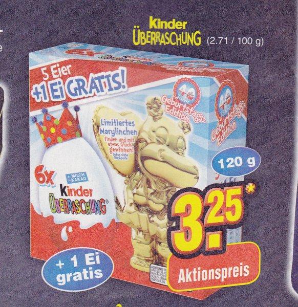 5 +1 Ü-Ei Kinder Überraschung bei Netto für 3,25€