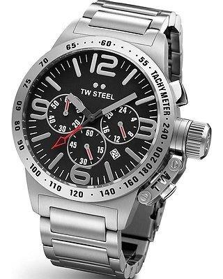 [Blitzangebot] TW Steel Unisex-Armbanduhr Canteen Bracelet Chronograph edelstahl grau TW301 für 145,99€ @Amazon