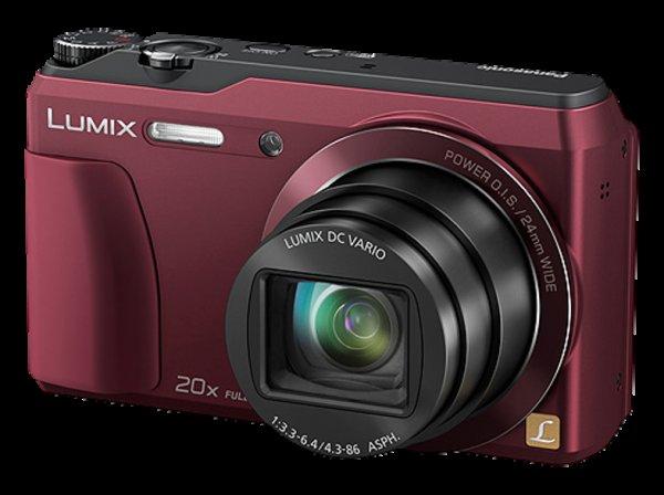 PANASONIC LUMIX Digitalkamera DMC-TZ55  Rot/Silber@Mediamarkt