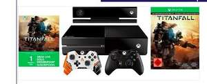 Xbox one+ kinect+2 controller+titanfall