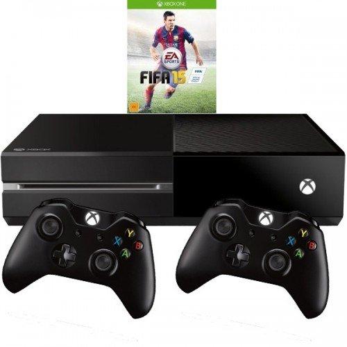 Xbox One 500GB ohne Kinect mit Fifa15 (download) und zweitem Controller 324,99€