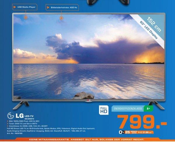 """[Lokal] LG 60LB561V - 152cm/60"""" LED-TV - 1080p (FullHD) @Saturn Hamburg NUR am 02.10.14"""