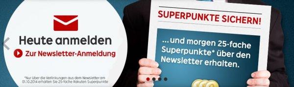 Rakuten 25-Fach Superpunkte (nur am 1.10.)