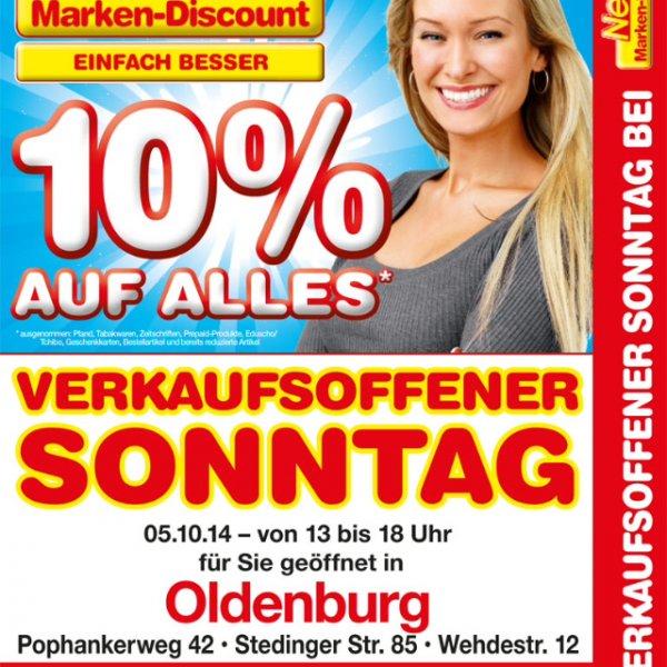 Netto (MD) - Verkaufsoffener Sonntag 05.10.2014 - 10% auf alles (Oldenburg in Old.)