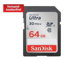 SanDisk SDXC 64 GB Ultra Class 10 UHS-1 für 25€ @Media Markt