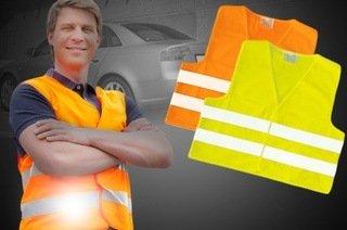 Warnweste DIN EN ISO 20471:2013 mit Reflektor-Streifen, in jedem PKW gesetzlich verpflichtend, inkl. Versand für 2,28 €