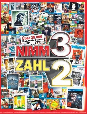 [Lokal Heilbronn?] Media Markt: Kauf 3 Zahl 2 für Games, DVDs, Blurays usw...