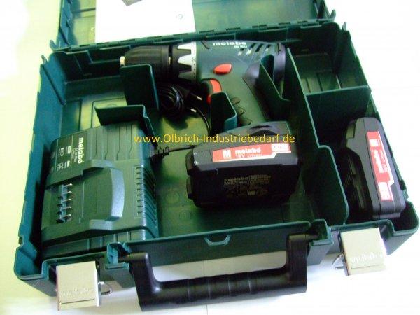 Metabo BS 18 Li 6.02116.53 // 2 Akkus 2 Ah + SC 60 Plus + Koffer