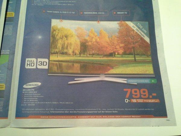 [Lokal] Samsung UE55H6600 SVX @ Saturn Neckarsulm