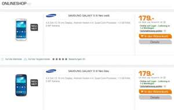 Samsung Galaxy S3 Neo bei SATURN deutschlandweit/online 179,- €