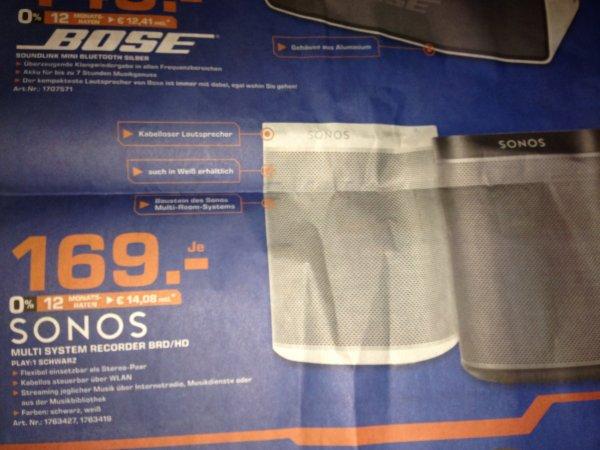 Sonos Play:1 All-in-One Player in schwarz oder weiß je 169€ Saturn