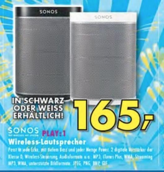 [Lokal: Ratingen] Sonos Play:1 - für 165 Euro (Weiß/Schwarz) bei Euronics