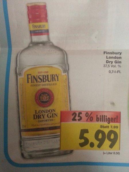 0,7 l Flasche Finsbury Gin bei Kaufland Halle (Deutschlandweit?Lokal?) 5,99 €