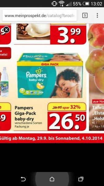 [Lokal] Pampers Giga Pack verschiedene Größen @ familia Pinneberg - 26,50 € mit Gutschein 22,50