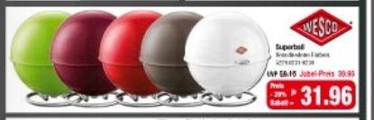 [Möbel Hardeck, Offline] Wesco Superball Vorratsdose für 31,96€  (Idealo:43€)