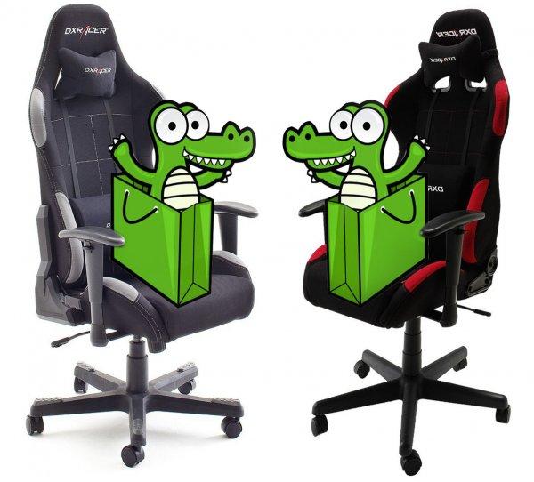 [Amazon] Gamer-Stuhl DXRacer Serie F (rot-schwarz / grau-schwarz)