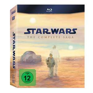 [amazon.de] Star Wars: The Complete Saga I-VI [Blu-ray] für 56,93 € (Bestpreis)