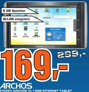 "ARCHOS Internet Tablet 10.1"" 8GB Android  169,- €"