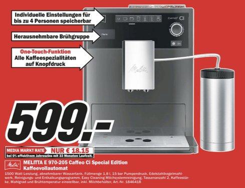 melitta kaffeevollautomat caffeo ci special edition f r 599 lokal media markt rheine nordhorn. Black Bedroom Furniture Sets. Home Design Ideas