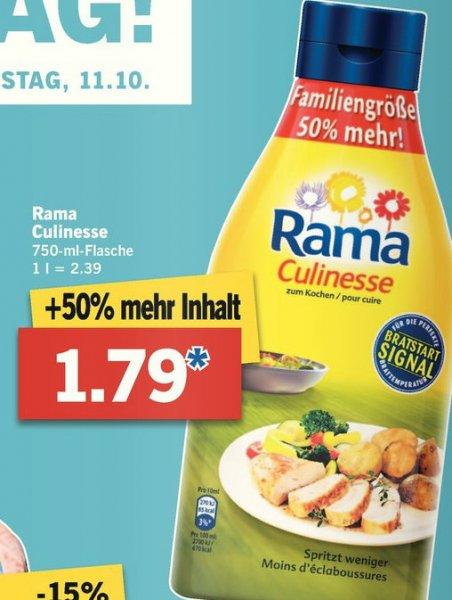 [ Lidl ab 06.10.2014 bis 11.10.2014 ] Rama Culinesse mit 50% mehr Inhalt für 1,79