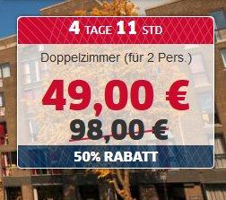 [HRS Deals] 1 Nacht für 2 Personen im 4-Sterne Hotel Artemis in Amsterdam für 49 €