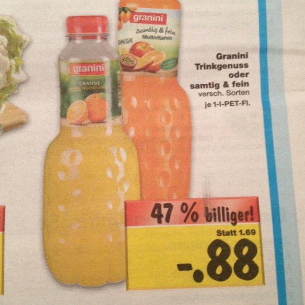 [Kaufland] Super Weekend --> Granini Trinkgenuss oder samtig und fein je Liter nur 0,88€