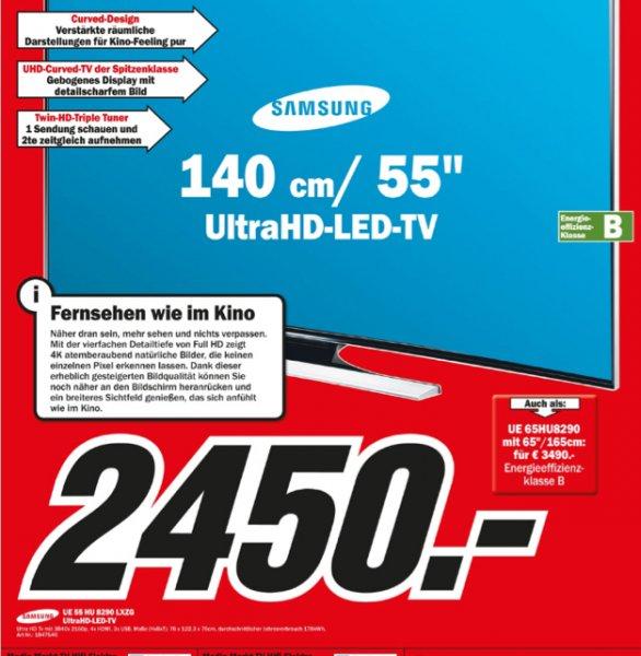 [Media Markt in Wiesbaden] Samsung Curved TV UE 55 HU 8290