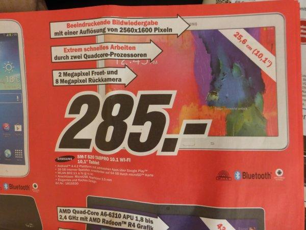 [Lokal] MediaMark BER SM-T3110 TAB3 WiFi+3G 197€  & SM-T520 TABPRO 10.1 WiFi 285€