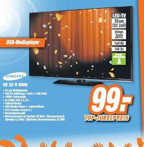 [Lokal Steinfurt, Neuenkirchen, Borghorst] Samsung 22''-Fernseher DVTB-T/C Full HD, Ci+ USB - Idealo ab 147€