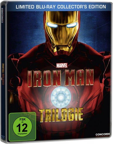 Iron Man: Trilogie Steelbook Blu Ray 13,86€ oder Iron Man 1+2 für 7,29€ @Amazon Prime