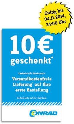 10€ Conrad Gutschein bei 20€ MBW für Neu- und Bestandskunden & Versandkostenfreie Lieferung für Neukunden (Computerbild Aktion)