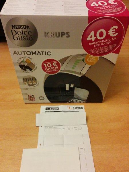 KRUPS KP510T Dolce Gusto Circolo Flowstop (=Automatik) titanium 49,99 EUR [Saturn]