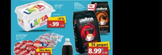 Lavazza Cafe Crema bei LIDL Classico oder Gustoso je 8,99,- je Kilo vom 06.10. Bis 11.10. plus Pepsi  37 Cent / L