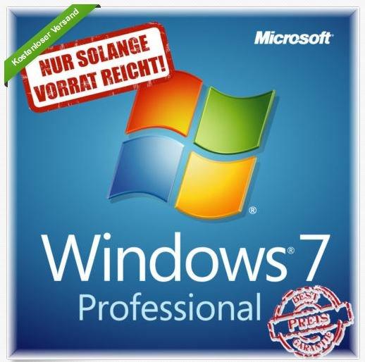 Update: Windows 7 Professional 32/64 Bit Deutsch COA Lizenzaufkleber @ Ebay
