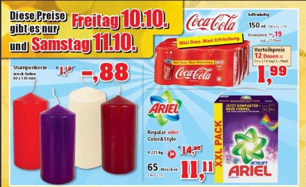 [ thomas-philipps]  12 Dosen (0,15l) Coca Cola  für 1,99€