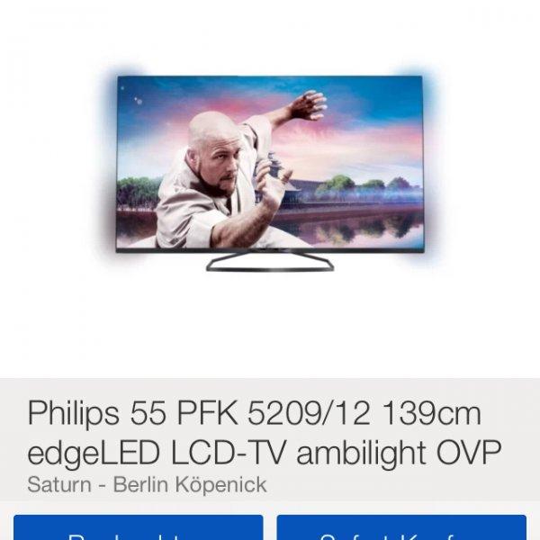 Philips 55 PFK 5209/12 139cm edgeLED LCD-TV ambilight