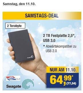 "[METRO] 2TB 2,5"" Seagate externe Festplatte USB 3.0"