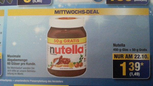 [Metro] Nutella 500g für 1,49€ nur am 22.10.