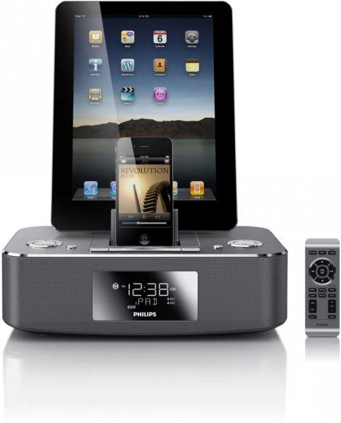 Philips DC390/ Dockingstation für iPod/iPhone/iPad /Duales Dock aus Aluminium
