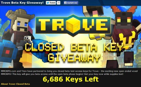 Trove Beta Key Giveaway MMORPG