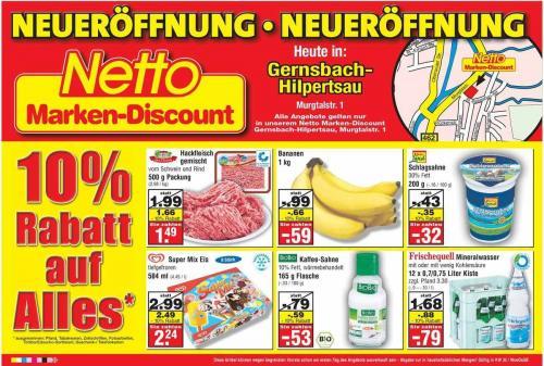[lokal] Neueröffnung Netto Gernsbach:10% auf alles + Eröffnungsangebote