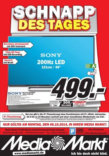 [Lokal MM Dortmund] Sony KDL 48-W605 (Triple Tuner, WLAN, Smart TV)