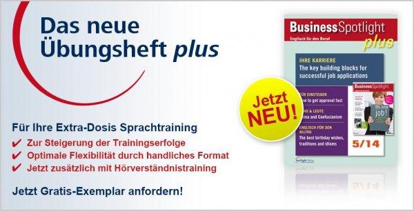 Business Spotlight Übungsheft kostenlos (Kündigung nötig)