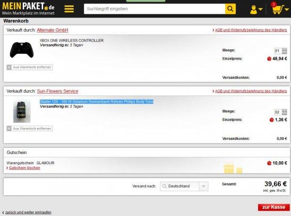 XBox One Wireless Controller bei Meinpaket.de für 39,66€