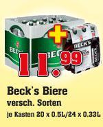 [OFFLINE] Beck's Bier, Lemon, Lime, etc. 24x0,33l oder 20x0,5l