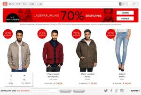 Designer Outlet 70% Rabatt Lagerausverkauf + 20% Glamourweekgutschein Replay Hilfiger Adidas Energie