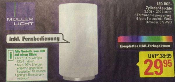 LED-RGB-Zylinder-Leuchte von Müller-Licht für 29,99€ bei Marktkauf